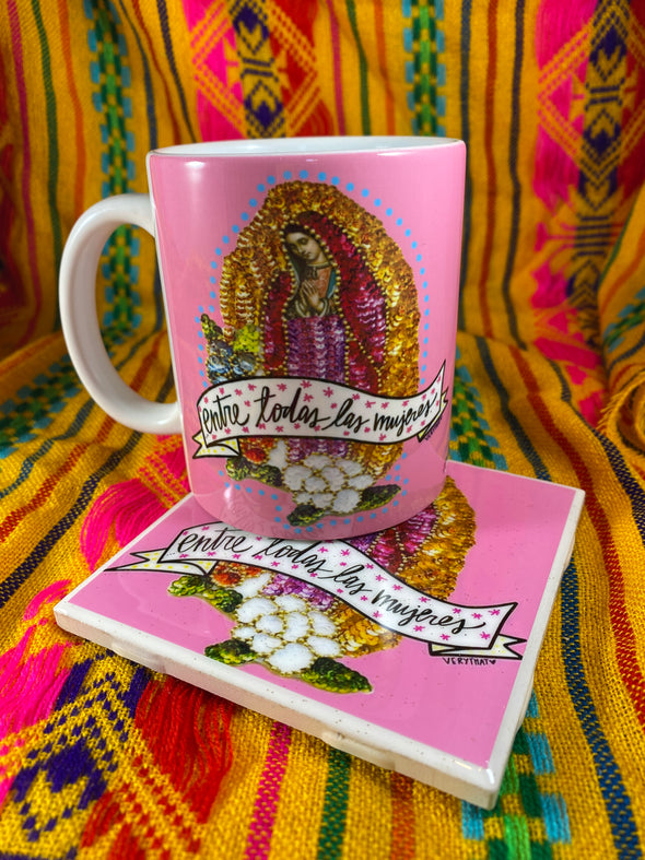 Virgencita  Mug and Tile Bundle