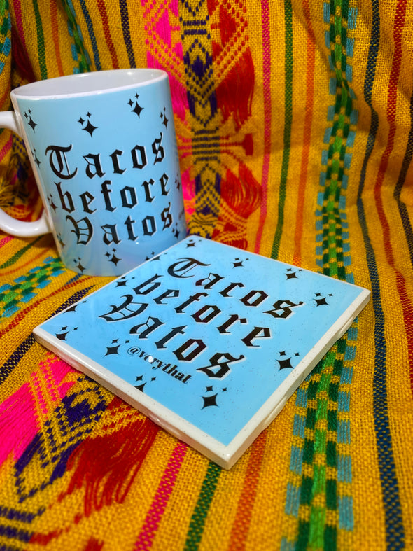 Tacos Before Vatos Mug and Tile Bundle