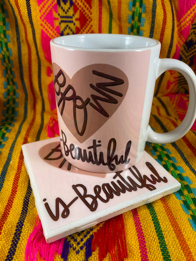 Brown is Beautiful Mug and Tile Bundle