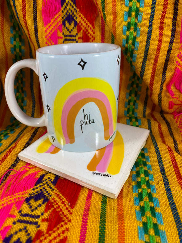 Hi Puta Mug and Tile Bundle