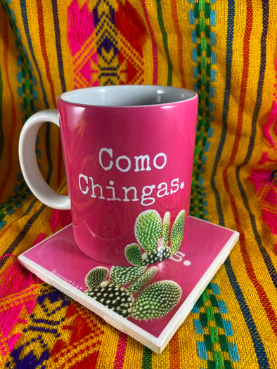 Como Chingas Mug and Tile Bundle