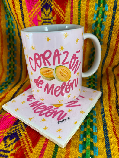 Corazon de Melon Mug and Tile Bundle
