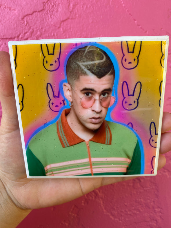 Bad Bunny Rainbow Coaster / Tile