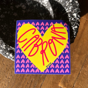 Cabrona Heart Sticker 2x2 ""