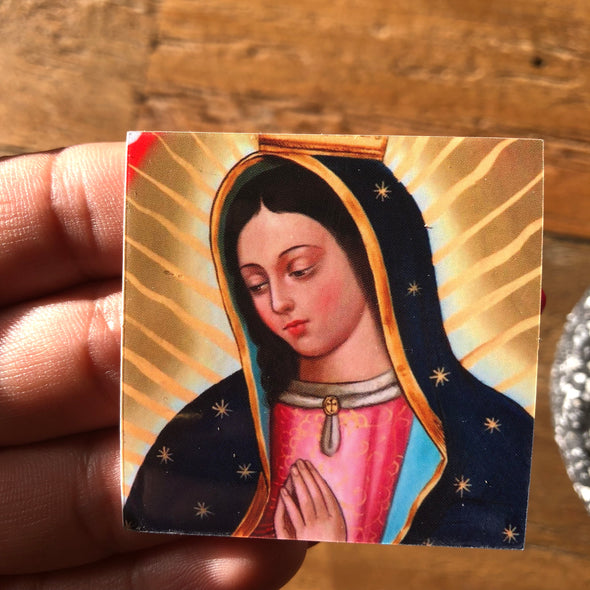 Virgen de Guadalupe sticker 2x2""