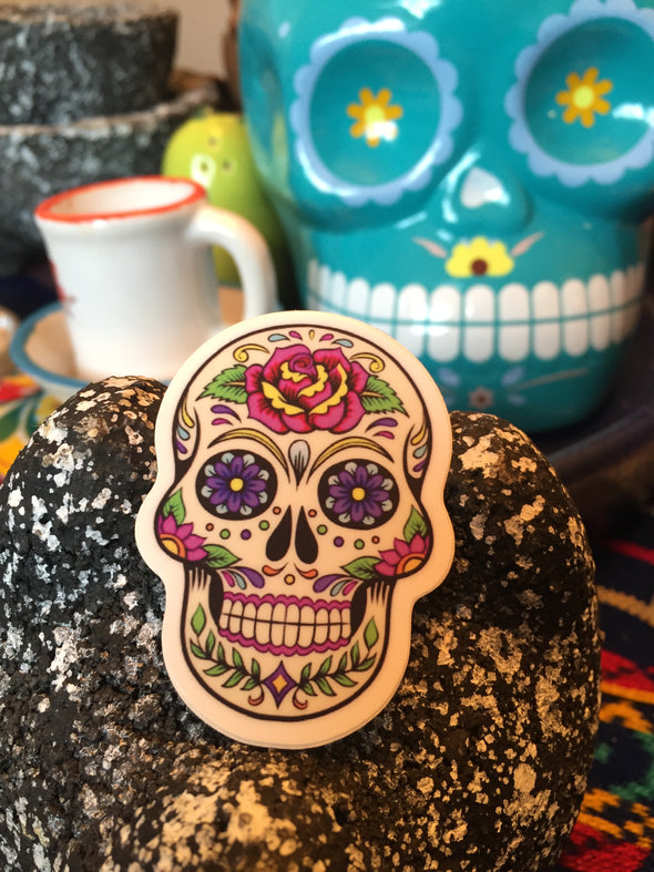 Calavera Sticker by Very That 2x2 inches