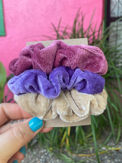 Mauvy Scrunchie Set