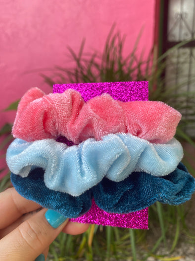 Pinky Blue Scrunchie Set