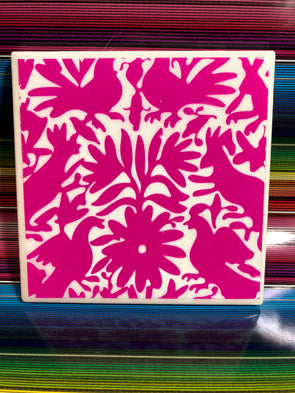 Pink Otomi Tile | Coaster | by VeryThat