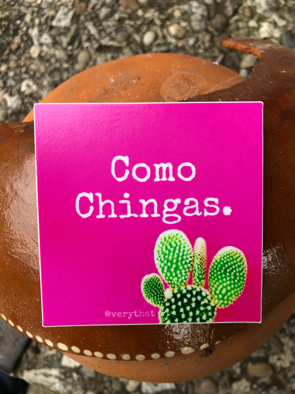 Como Chingas 3x3 Square Sticker