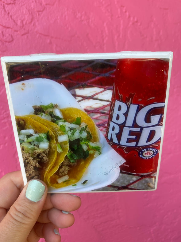 Big Red and Barbacoa Tile / Coaster