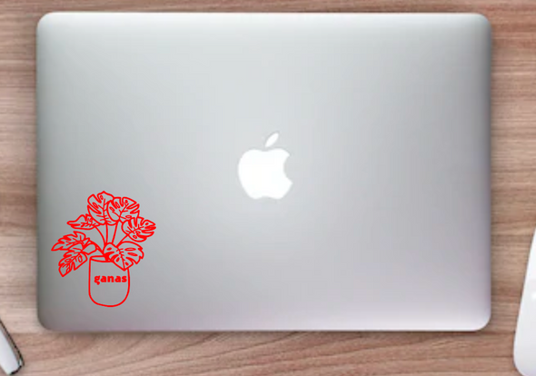 Ganas Monstera Vinyl Decal