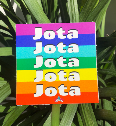 Jota Rainbow Sticker by Very That  | 3x3"