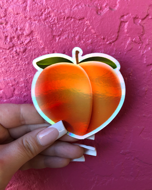 Holo Peach | Sticker