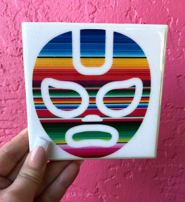 Lucha Tile | Coaster | by VeryThat