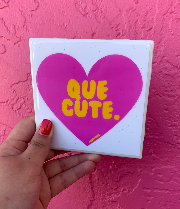 Que Cute Tile | Coaster | by VeryThat