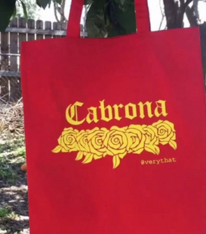 Red Cabrona Tote Bag by Very That
