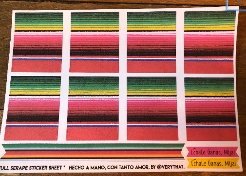 Full Serape Sticker Sheet by Very That
