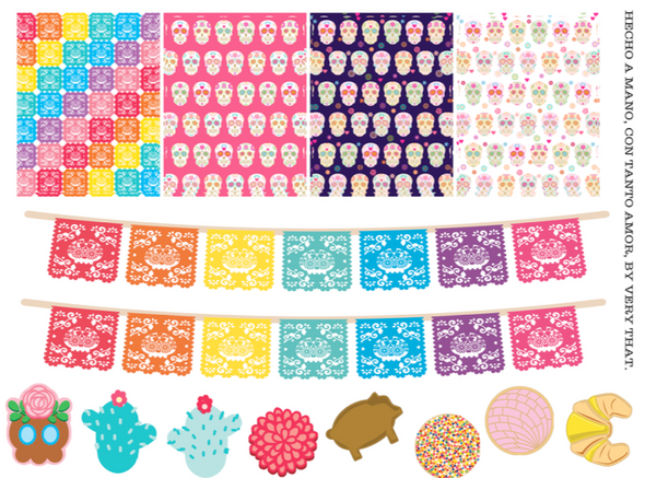 Dia de los Muertos Sticker Sheet by Very That