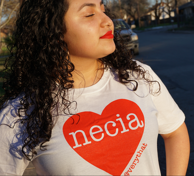 Necia Heart Tee in Red and White