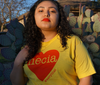 Necia Life tee in Yellow and Red