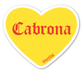 Cabrona Conversation Heart Sticker