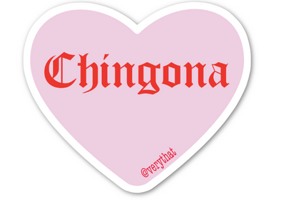 Pink and Red Chingona Conversation Heart Sticker