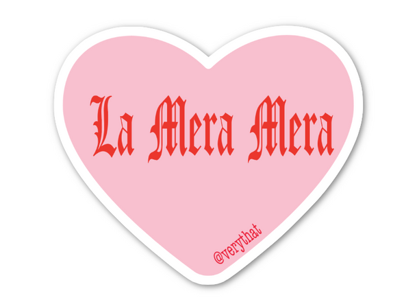 La Mera Mera Conversation Heart Sticker