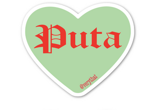 Puta Conversation Heart Sticker