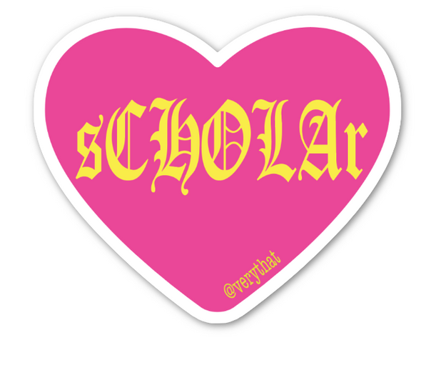 sCHOLAr Conversation Heart Sticker by Very That