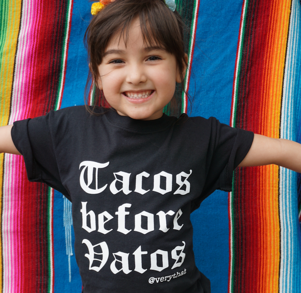 Tacos Before Vatos Kids Tee