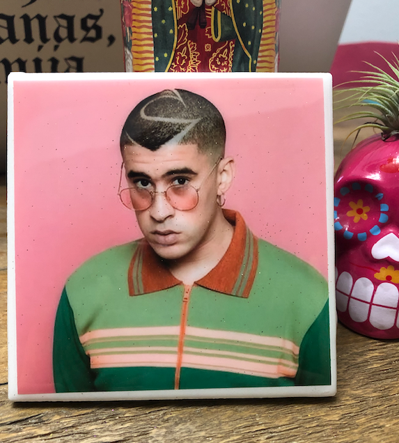Bad Bunny Pink Tile / Coaster