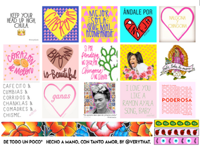 De Todo Un Poco Planner Sticker Sheet by Very That Multi Pack | by Very That