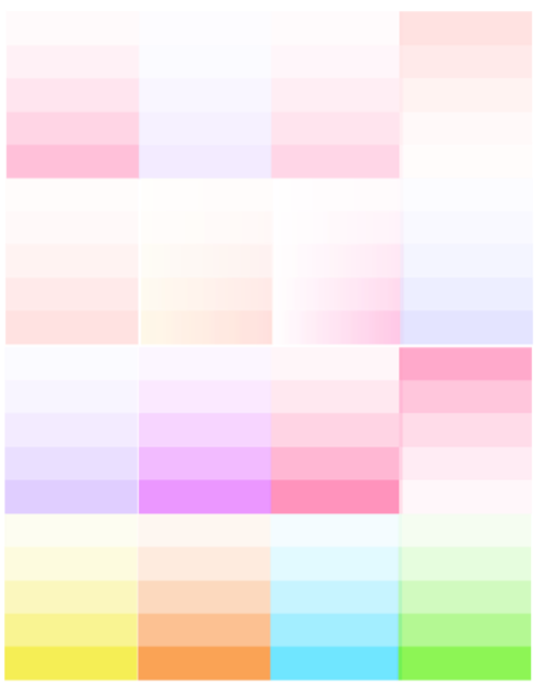 Ombre Box Checklists - 2 sets / 16 count