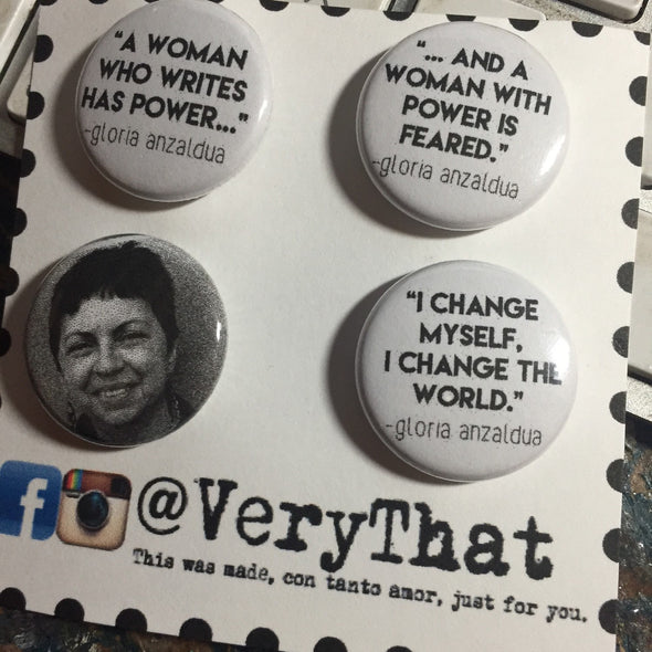 Gloria Anzaldúa Button Pack