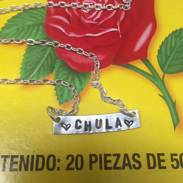 "On Sale! Chula metal stamped necklace by VeryThat || 18"" chain 