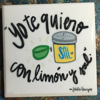 Yo Te Quiero / Julieta Venegas tile/coaster by Very That
