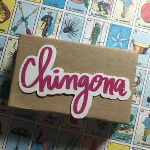 Chingona in Pink Sticker by Very That