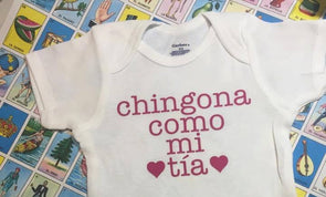 Chingona como mi Tia Onesie by Very That | Baby onesie, personalized name baby onesie, custom onesie,  Baby girl clothes, Baby shower gift
