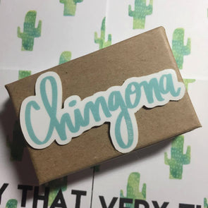 Aqua Chingona Sticker by Very That / Vinyl Sticker/ Planner / Journal / Bumper sticker
