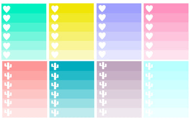 Heart and Cactus Ombre Checklist Stickers for Planners | Erin Condren | Very That