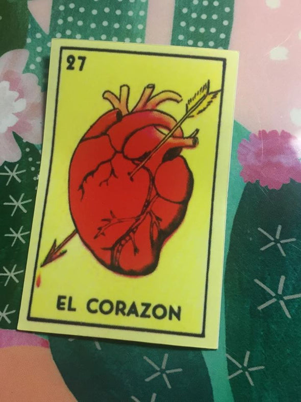 El Corazon Sticker \ Vinyl Sticker \ Water Resistant by Very That
