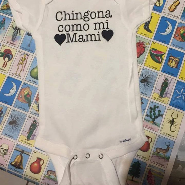 Chingona como mi Mami Onesie by Very That | Baby onesie, personalized name baby onesie, custom onesie,  Baby girl clothes, Baby shower gift