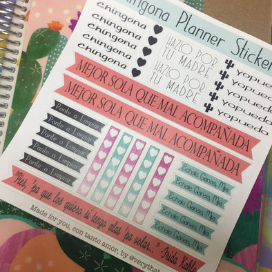 Chingona Planner Sticker Sheet by Very That | EC Planners | Passion Planner | Very That Stickers