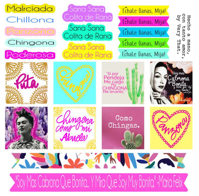 Poderosa Sticker Sheet by Very That | EC Planners | Passion Planner | Very That Stickers