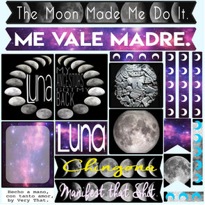 Luna Hermosa | Beautiful Moon Sticker Sheet by Very That | EC Planners | Passion Planner | Very That Stickers