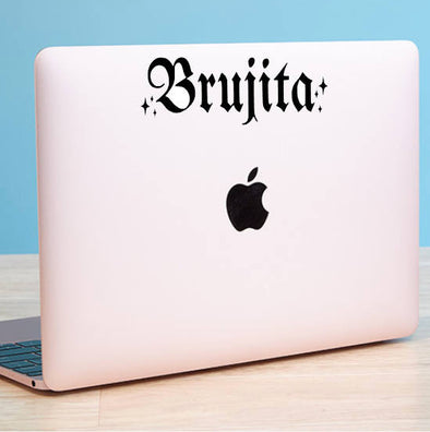 Brujita Old English Vinyl Cut Sticker for your Laptop, bumper, wall etc! By Very That