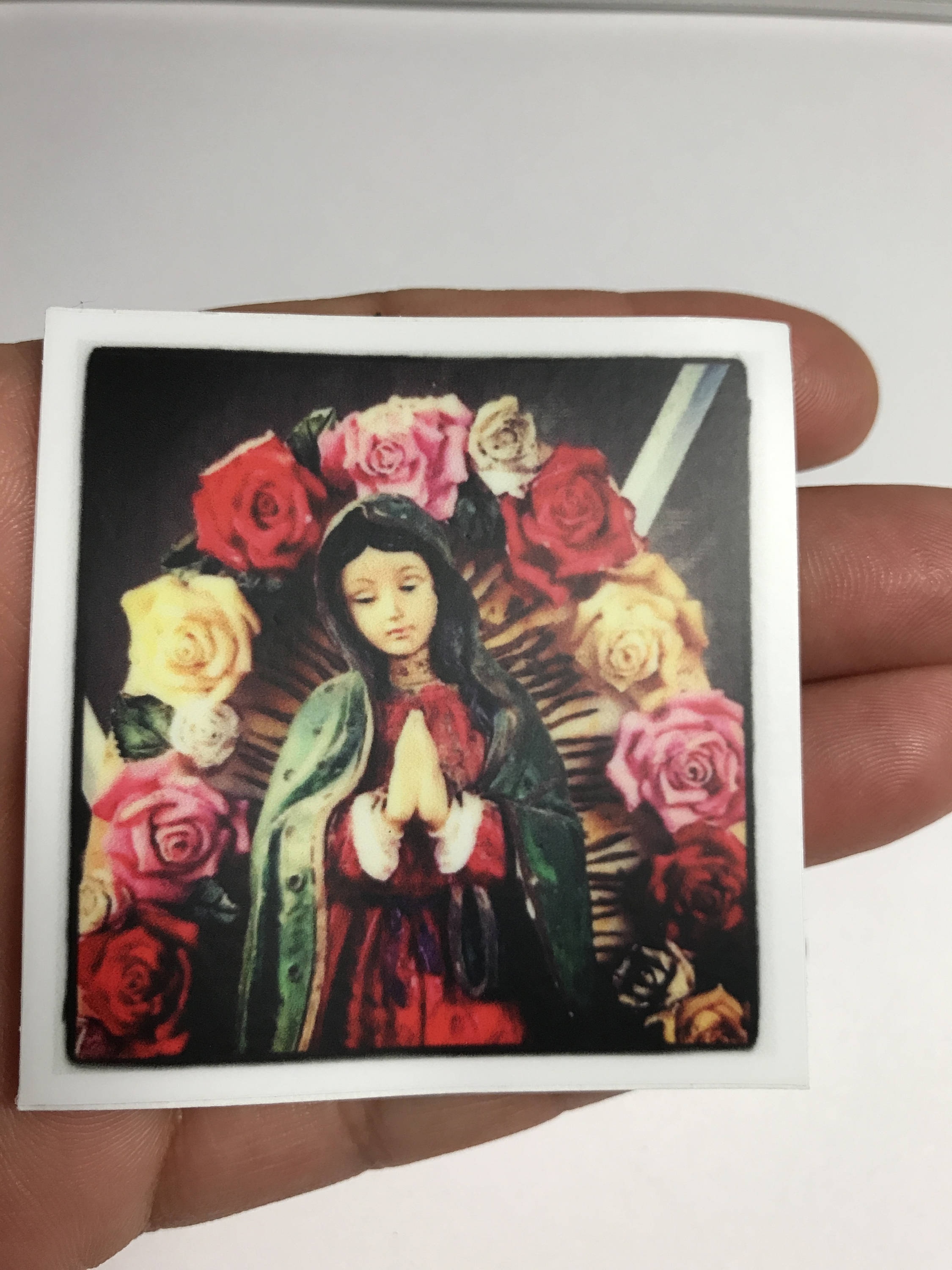 Virgencita Con Flores Sticker By Very That 2x2 Inches