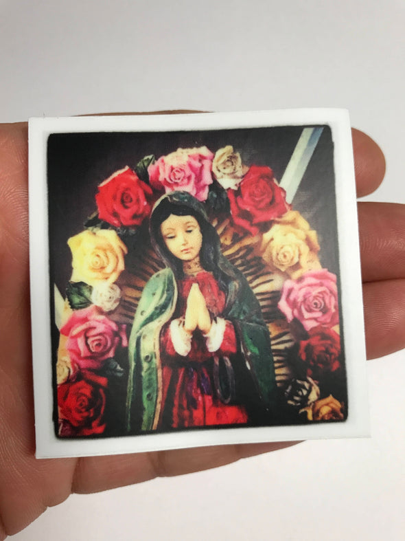 Virgencita con Flores Sticker by Very That 2x2 inches, weather / waterproof perfect for your journals, planners, bike, car, etc!
