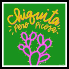 Chiquita Pero Picosa Nopal Sticker by Very That  weather / waterproof perfect for your journals, planners, bike, car, etc!